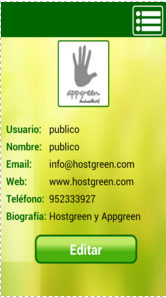 AppGreen en Android Login
